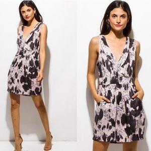2 Left!! Gorgeous Printed Surplice Dress